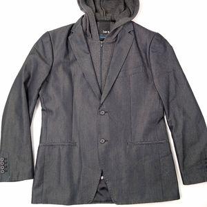 BAR III hooded Suit jacket size Medium 30L Gray